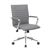 Boss Grey Vinyl Hospitality Chair