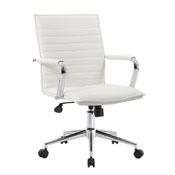 Boss White Vinyl Hospitality Chair
