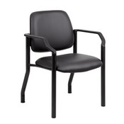 Boss Antimicrobial Guest Chair, 300 lb. weight capacity