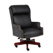 Boss Traditional High Back CaressoftPlus Chair W/Mahogany Base