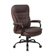 Boss Heavy Duty Double Plush LeatherPlus Chair - 400 Lbs.