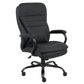 Boss Heavy Duty Double Plush CaressoftPlus Chair - 400 Lbs. in Black