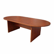 Boss 71W X 35D Race Track Conference Table, Cherry