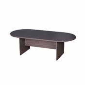 Boss 71W X 35D Race Track Conference Table, Driftwood