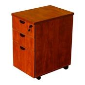 Boss Mobile Pedestal Box/Box/File, Honey Comb Packing, Cherry