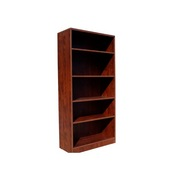 Boss Bookcase, 31W X14D X 65.5H  Mahogany