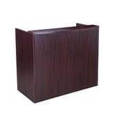 Glazed Reception Desk, 48Wx26Dx41.5H Mahogany