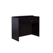 Glazed Reception Desk, 48Wx26Dx41.5H Mocha