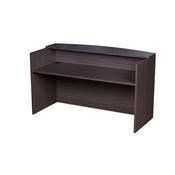 Boss Reception Desk, 71W X 30/36D X 42H, Driftwood