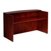 Boss Reception Desk, 71W X 30/36D X 42H, Mahogany