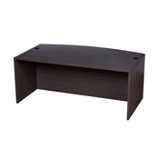 Boss Bow Front Desk Shell, Driftwood 71W*36/41