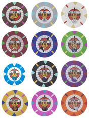 Rock & Roll 13.5 gram Poker Chips