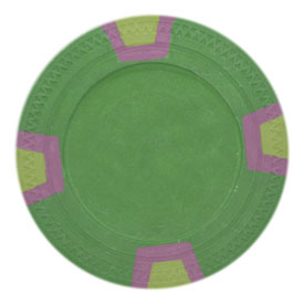 Blank Claysmith Double Trapezoid Poker Chip (25 Pack) - Green
