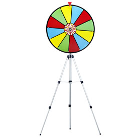 24Inch Color Dry Erase Prize Wheel w/ Floor Stand