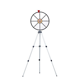 16Inch White Dry Wheel Prize Wheel w/ Floor Stand