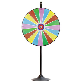 36Inch Dry Erase Color Prize Wheel w/Extension Base