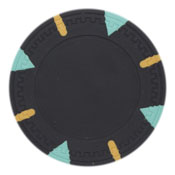 Triangle & Stick Blank 13.5g Poker Chips (25 Pack)-Black