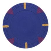 Triangle & Stick Blank 13.5g Poker Chips (25 Pack)-Darkblue