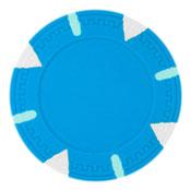 Triangle & Stick Blank 13.5g Poker Chips (25 Pack)-Lightblue