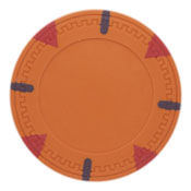Triangle & Stick Blank 13.5g Poker Chips (25 Pack)-Orange
