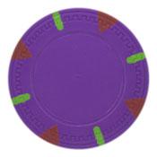 Triangle & Stick Blank 13.5g Poker Chips (25 Pack)-Purple