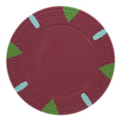 Triangle & Stick Blank 13.5g Poker Chips (25 Pack)-Red