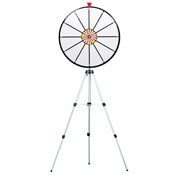 24Inch White Dry Erase Prize Wheel w/ Floor Stand