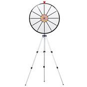 24Inch White Dry Erase Prize Wheel w/ Floor Stand