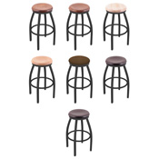 802 Swivel Stool with Black Wrinkle Finish
