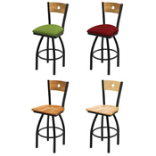 830 Swivel Stool with Black Wrinkle Finish
