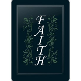 Faith Floral Vertical Sage Logo Panel
