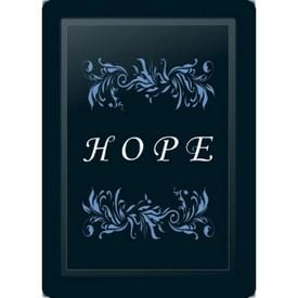Hope Floral Horizontal Blue Logo Panel