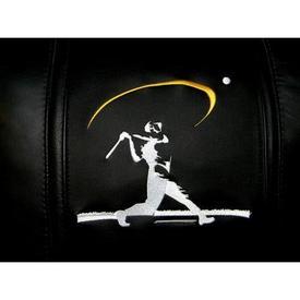 Baseball Home Run Swing Yellow Logo Panel