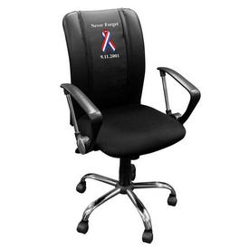 Curve Task Chair with 9/11 Never Forget Logo Panel
