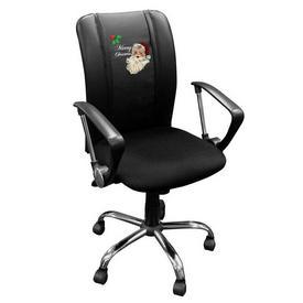 Curve Task Chair with Santa Claus Merry Christmas Logo