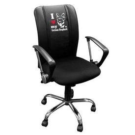 Curve Task Chair with German Shepherd Logo Panel