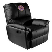 Rocker Recliner with LSU Tigers National Champions Logo