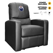 Stealth Power Plus Recliner with Edmonton Oilers Logo