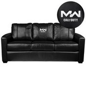 Silver Sofa with Call of Duty Modern Warfare Icon Logo