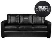 Silver Sofa with Call of Duty Modern Warfare Stacked Logo