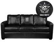 Silver Sofa with Call of Duty East Top Level Faction Logo