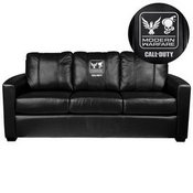 Silver Sofa with Call of Duty Small Scale Faction Lock Up Logo