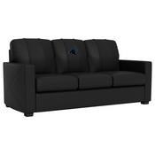 Silver Sofa with Carolina Panthers