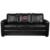 Silver Sofa with Chicago Bears