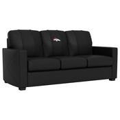 Silver Sofa with Denver Broncos