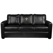 Silver Sofa with New Orleans Saints