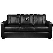 Silver Sofa with Las Vegas Raiders