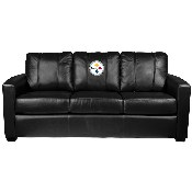 Silver Sofa with Pittsburgh Steelers