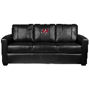 Silver Sofa with Tampa Bay Buccaneers