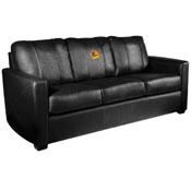 Silver Sofa with Mallards Flying Logo